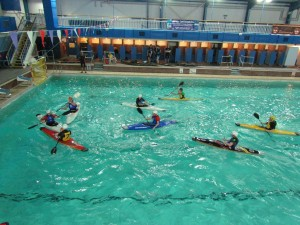 A polo match at Yearsley pool